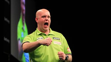 Michael van Gerwen: Takes on Phil Taylor in Birmingham