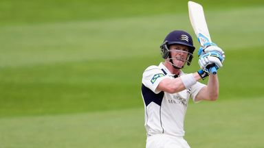 Nick Gubbins: The batsman was named man of the match for his fine innings