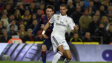 Pepe picked up the injury in El Clasico as Barcelona won 2-1