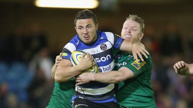 Sam Burgess: Scored Bath's fourth try in the rout of London Irish