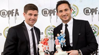 Steven Gerrard and Frank Lampard receive PFA awards