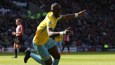 Yannick Bolasie celebrates after scoring against Sunderland