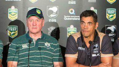 Australia coach Tim Sheens and New Zealand boss Stephen Kearney ahead of the ANZAC Test