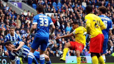 Troy Deeney scores at Brighton to help seal Watford