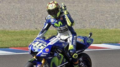 Valentino Rossi: Celebrates Argentina MotoGP win
