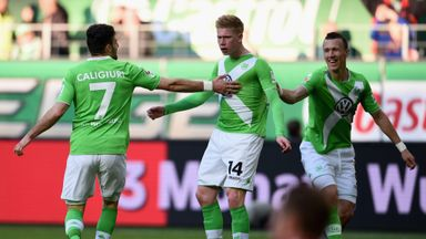 Kevin de Bruyne's equaliser salvaged a point for Wolfsburg