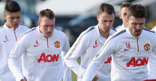 Rojo, Jones,  Evans and Carrick: All out for United