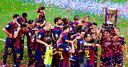 WATCH: Barcelona title party