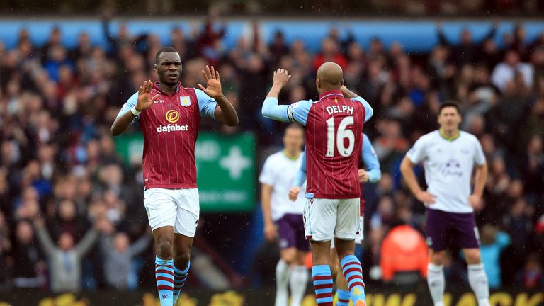 Christian Benteke (left) and Fabian Delph (right) left Villa last summer