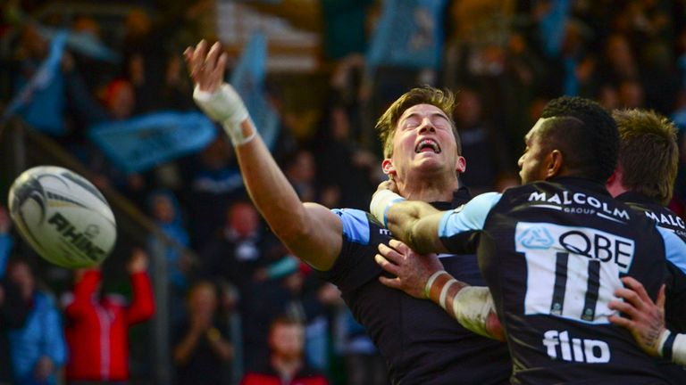 DTH Van Der Merwe Celebrates The Try That Drew His Side Level In Pro12 Semi