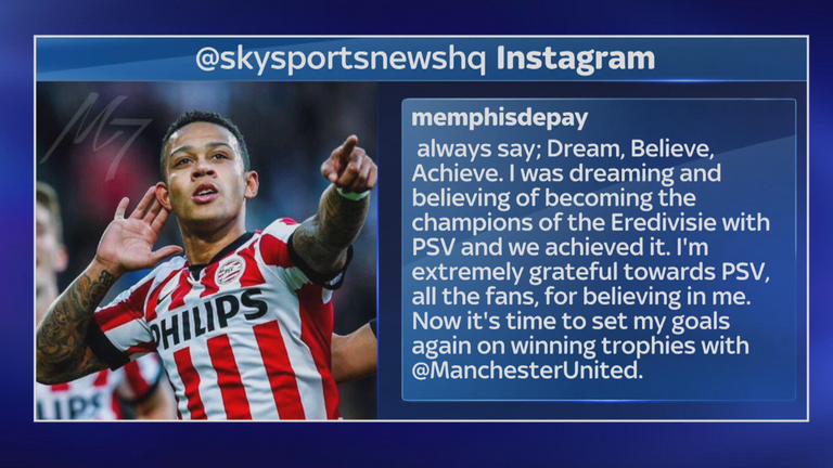 Memphis Depay Signed For Manchester United Because Of Van