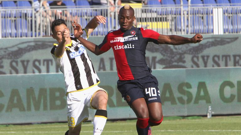 Paul Josa Mpoku Of Cagliari In Action Against Udinese