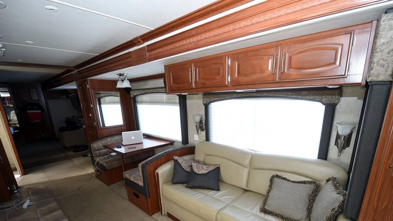 The motorhome has plenty of living space
