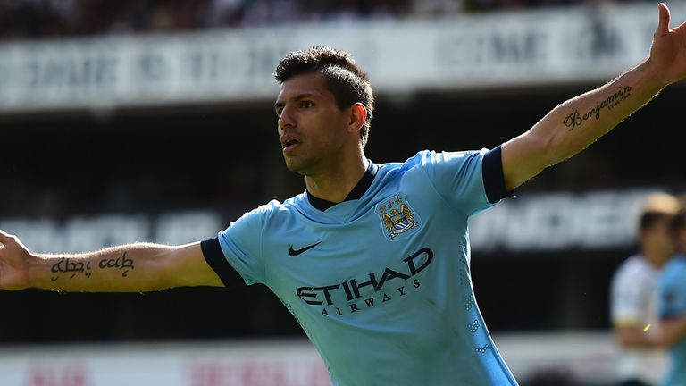 Sergio Aguero can end the season with goals against Saints.
