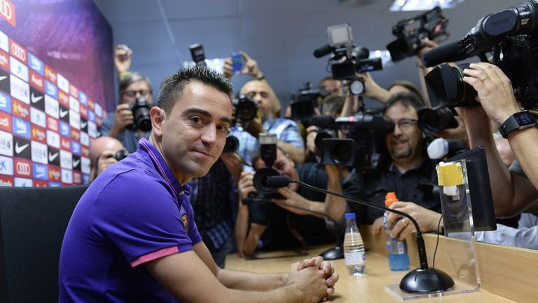 Xavi has been at Barcelona for 17 years, winning La Liga eight times