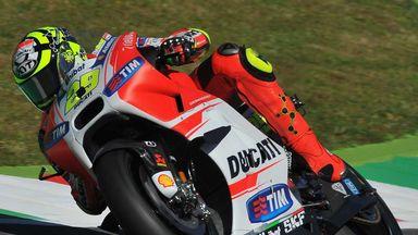 Andrea Iannone put his Ducati on pole at Mugello
