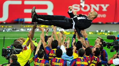 Pep Guardiola won the Champions League twice with Barcelona