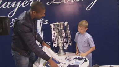 Beckford gave the young Preston fan a shirt, scarf and programme
