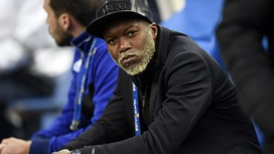 Djibril Cisse on the bench during his time at French club Bastia.