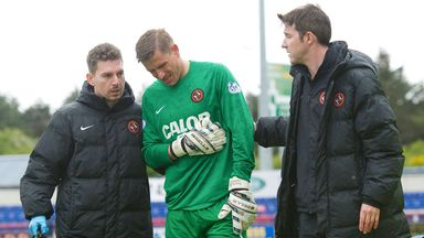 Radoslaw Cierzniak: Dundee United goalkeeper leaves the field at Inverness