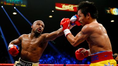 Floyd Mayweather: Secured his 48th straight victory