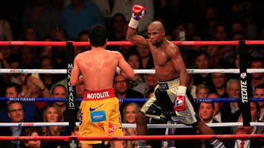 Floyd Mayweather took Manny Pacquiao's WBO belt with convincing points win in May