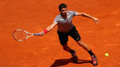 Grigor Dimitrov plays Donald Young on Tuesday at the Madrid Masters