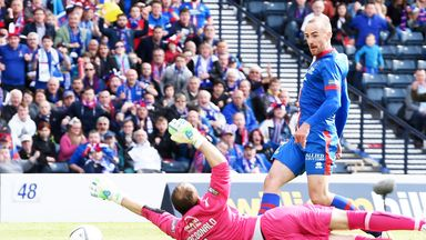 James Vincent scores the decisive goal in the Scottish Cup final