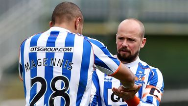 Kilmarnock's Josh Magennis and Jamie Hamill made up after first-half clash