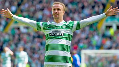 Leigh Griffiths: Celebrates scoring his 20th Celtic goal this season