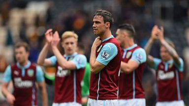 Michael Duff of Burnley looks dejected after his team were relegated after the Barclays Premier League match against Hull City