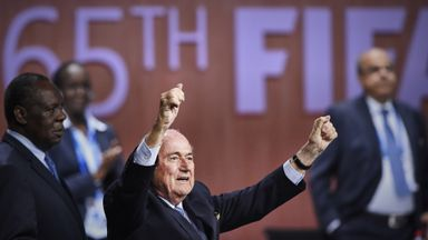 Sepp Blatter: Re-elected as FIFA president for a fifth term