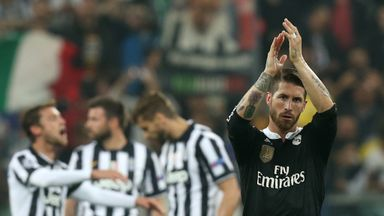 Sergio Ramos: Applauds fans at the final whistle