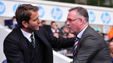 Paul Lambert was replaced by Tim Sherwood as Aston Villa boss