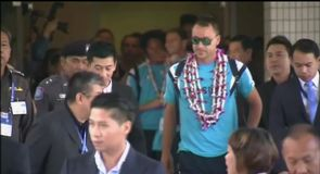 Chelsea arrive in Thailand