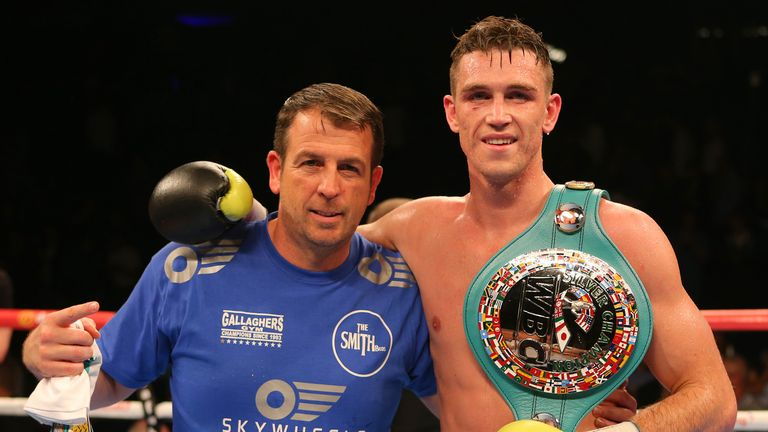 Gallagher (left) also trains Callum Smith, wanted by George Groves