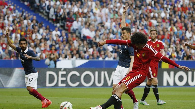 Belgium midfielder Marouane Fellaini scored twice against France in 2015
