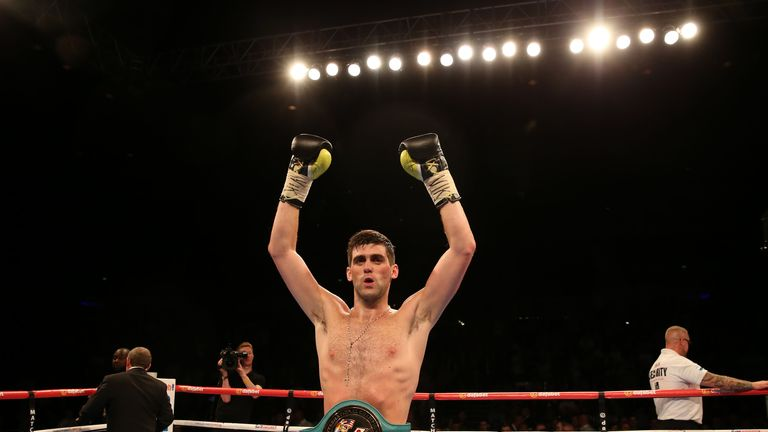 Rocky Fielding Celebrates Claiming The Wbc International Super Middleweight With Victory Over Bryan Vera