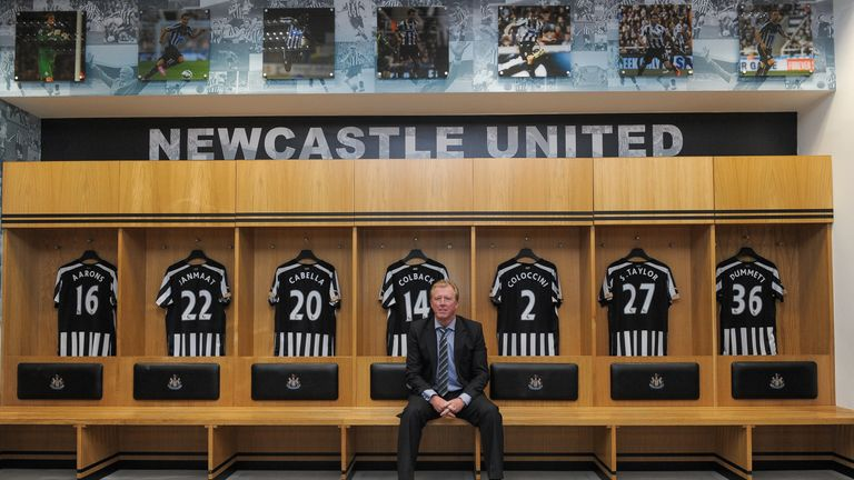 Steve McClaren was added to the Newcastle board last summer