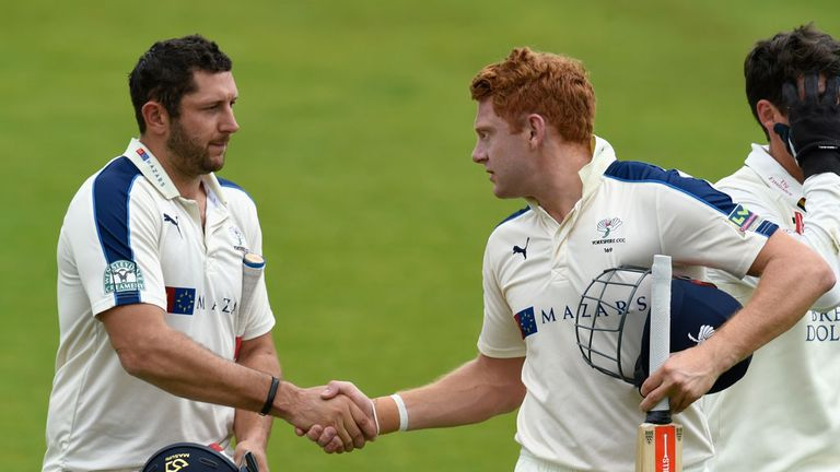 Tim Bresnan and Jonny Bairstow: Yorkshire duo star against Durham