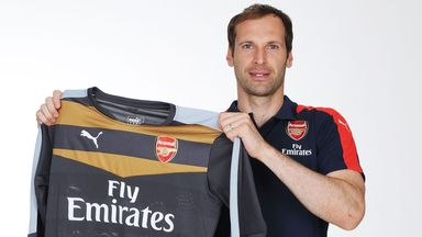 Petr Cech: Has moved from Chelsea to London rivals Arsenal