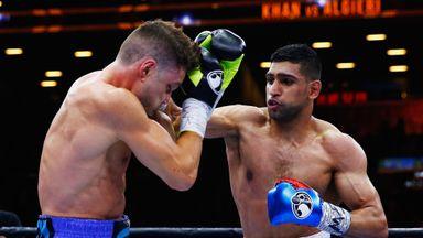 Amir Khan (right) beat Chris Algieri in New York in May