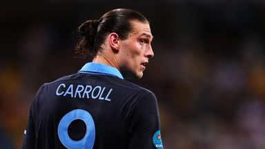 Andy Carroll playing for England