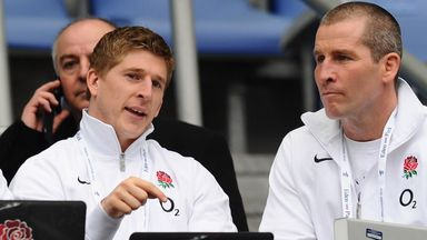 David Strettle with Stuart Lancaster in 2012