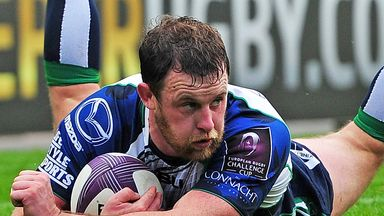 Willie Faloon: Scoring for Connacht in the European Challenge Cup in October