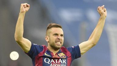 Jordi Alba: Has signed a new Barcelona deal until 2020