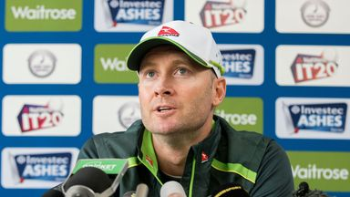 Michael Clarke before the second Ashes Test