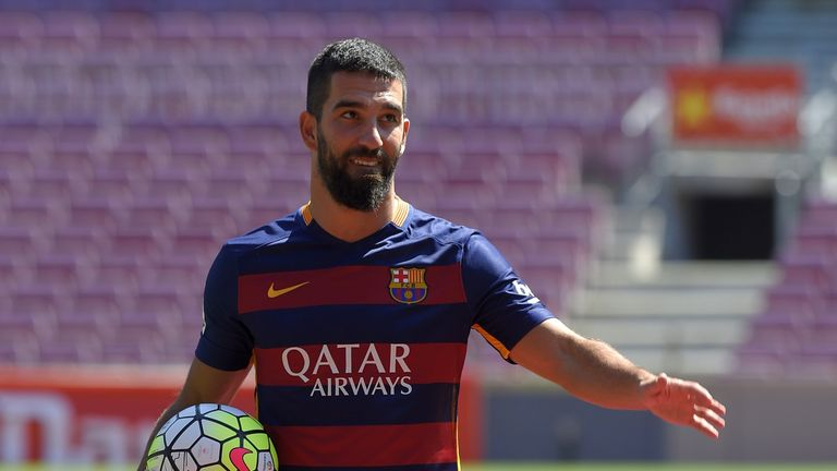 Arda Turan signed for Barcelona in July but officially completed the move after transfer embargo was lifted