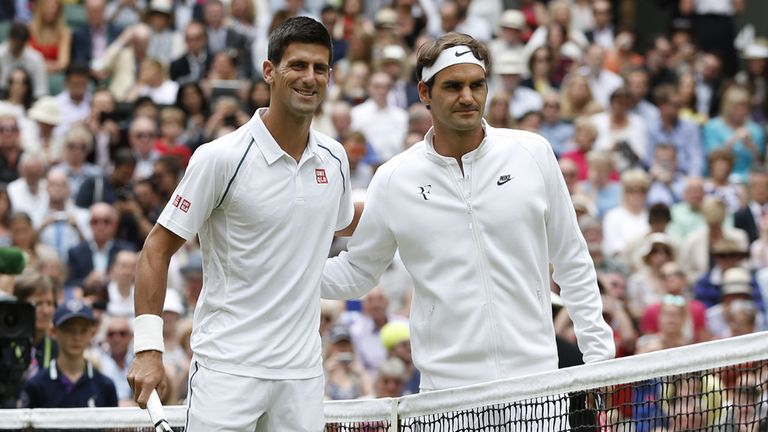 Hamilton unable to witness the men's final on Centre Court on Sunday, where Djokovic triumphed