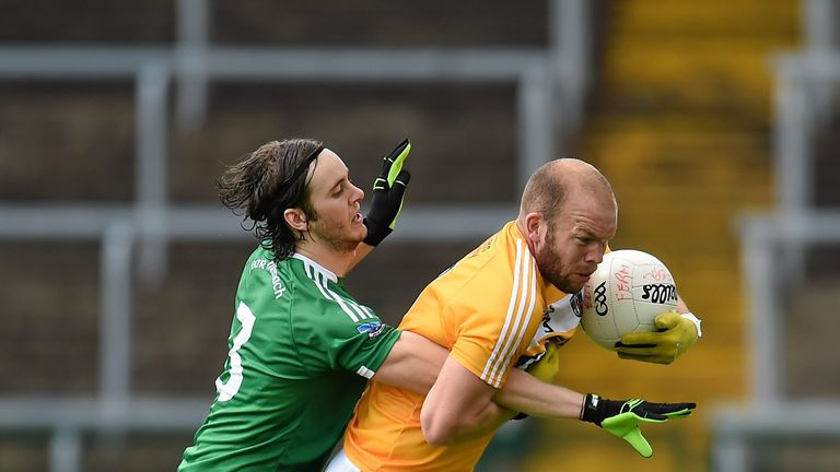 Antrim and Fermanagh lock horns during last year's Ulster Football Championship